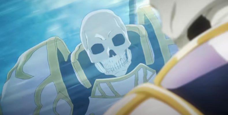 Аниме Рыцарь-скелет вступает в параллельный мир